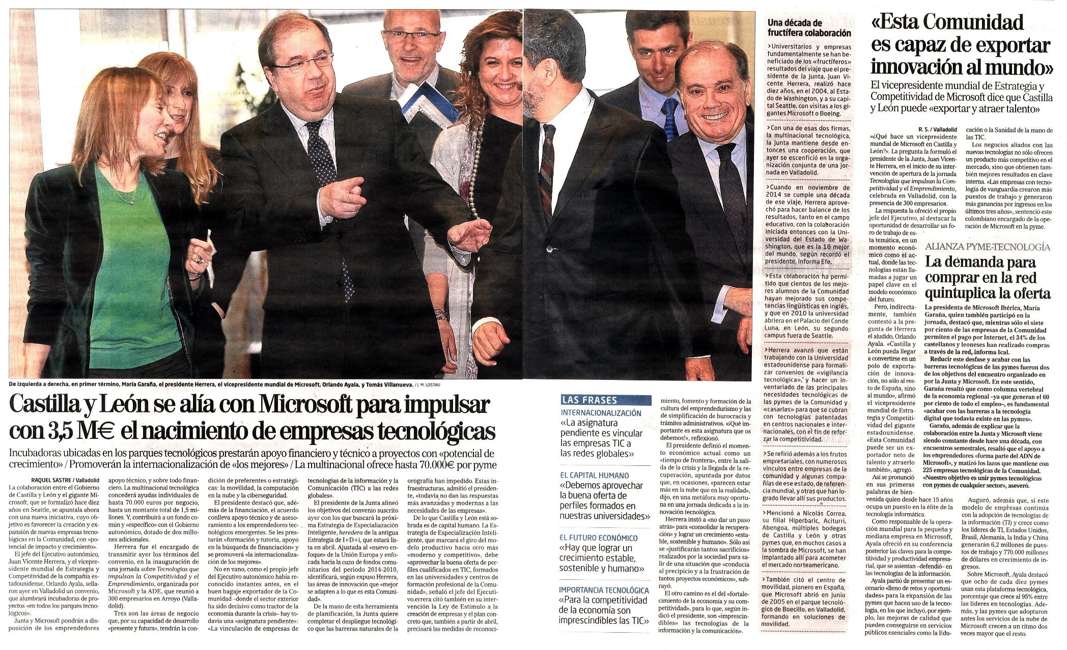 Castilla y le n se al a con microsoft para impulsar con 3 for Oficina virtual cyl